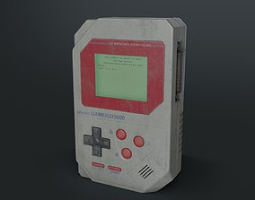 3D model Dirty Old Handheld Console