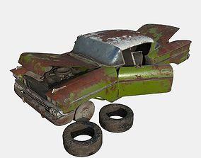 3D model Abandoned Car 14
