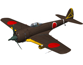3D Ki43 Hayabusa type3 oscar