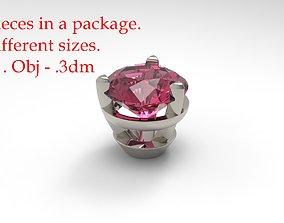 Jewelry Prong Head Set 3D printable model 1