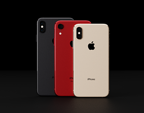 iPhone XS and XS Max and XR in All Official 3D model 1