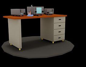 3D model Radio Desk
