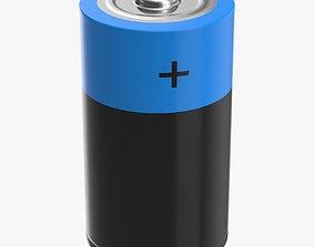 Battery D 3D model realtime