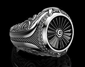 jewellery Men ring turbine 3D print model