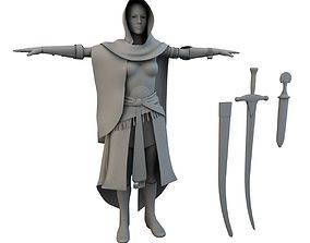 game-ready Arabian Secret 3D Woman Costume model