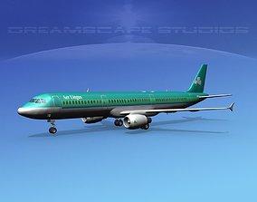 3D model Airbus A321 Aer Lingus