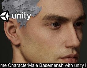 male base mesh man Anatomy 3D asset