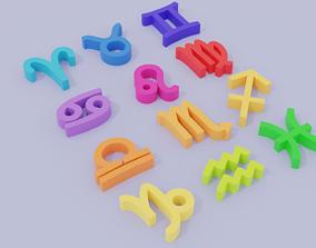 Lowpoly Zodiac Signs 3D model