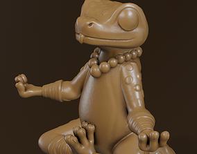 Meditating Lizard 3D print model