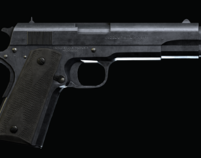 3D asset Clt-1911 WW2 Realistic sidearm