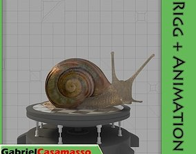 3D model animated Snail