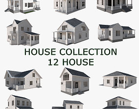town House Collection 12 House Low poly 3D model