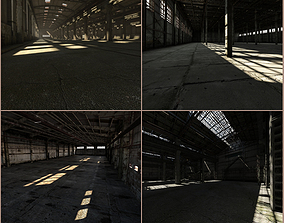 4 in 1 Abandoned industrial interiors 3D model