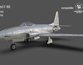Lockheed P-80 3D model