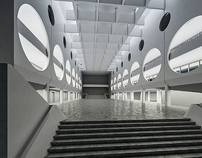 Public Hall Interior 03 3D asset