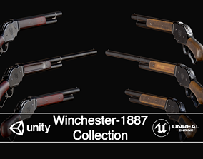 Winchester-1887 Collection 3D model VR / AR ready