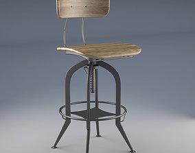 3D asset Vintage Toledo Bar Chair