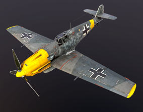 3D model Fighter Germany Aircraft bf109 Me-109 WWII 3