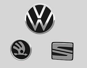 3D model VAG logos