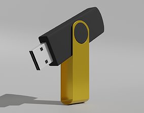 Flash Drive 3D model game-ready