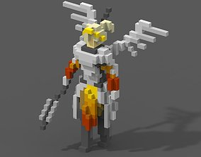 game-ready Mercy from Overwatch Voxel Model