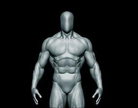 3D model game-ready anatomy bodybuilder