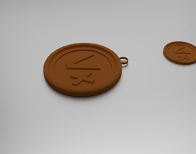 3D printable model Vertex Pendant