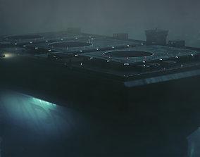 LAPD Bladerunner Building cyberpunk 3D model