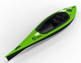 Sport Kayak watercraft 3D model