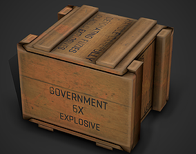 3D asset Ammo Crate 02 Low Poly Mobile Ready