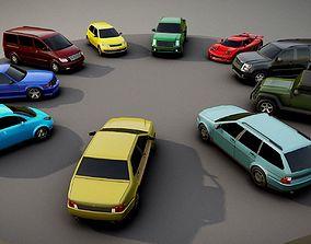 Generic passenger car pack 3D model
