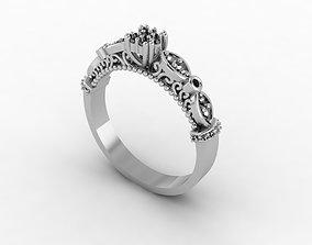 diamond-ring 3D printable model ring gold