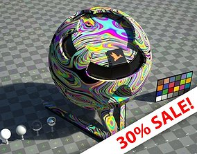 Groovy Hippy shader - VRay shader no textures 3D asset