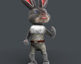 Cartoon rabbit 3D model