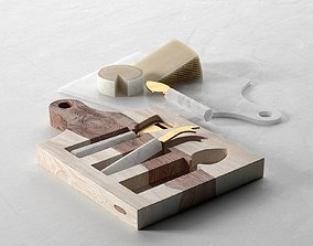 3D Marbled Cheese Board Set
