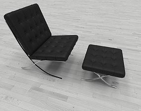 interior 3D model game-ready Armchair