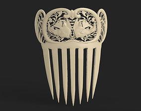 medieval comb 3D printable model