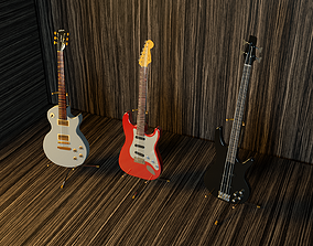3D guitar models game-ready