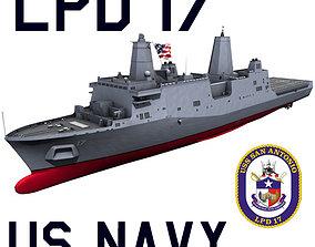 3D model US Navy LPD-17 San Antonio Class Amphibious 3
