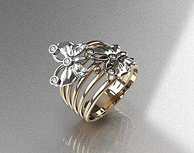 Ring Butterfly 3D print model
