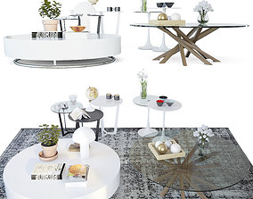 3D Set coffee tables