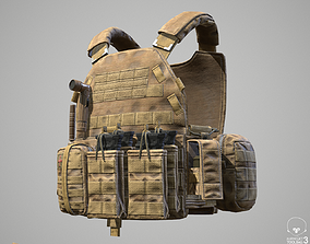 3D model Military Tactical Soldier Vest and Equipment 2