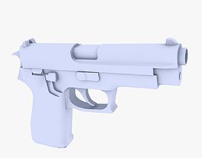 SIG P220 Pistol 3D asset