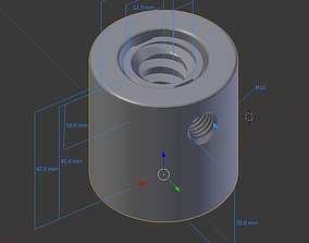 Repair Screw Nut Mechanism 3D printable model