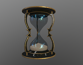 3D asset low-poly Hourglass