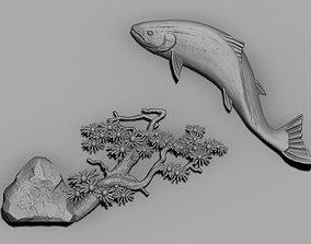 salmon fish 3D printable model