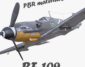 3D model BF-109 German fighter PBR VR / AR ready 2