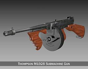 3D Thompson Model 1928 Submachine Gun typewriter