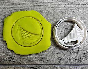 Golden State Warrior cookie cutter 3D print model