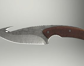 3D model Fishing Knife Midpoly Game-ready PBR